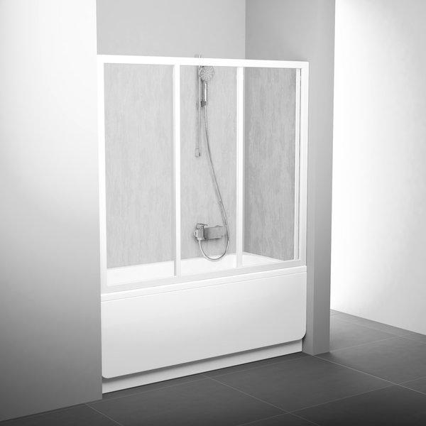 Stumdomos vonios durys Ravak, AVDP3-150, balta+plastikas Rain