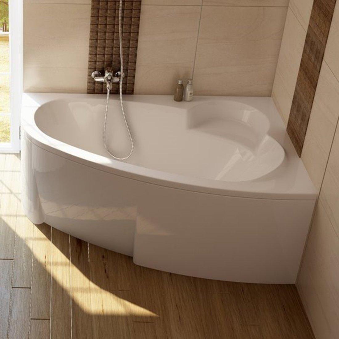 Akrilinė asimetriška vonia Ravak Asymmetric, 150x100 R
