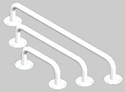 Stacionari rankena neįgaliesiems Corrado, 900 mm, balta