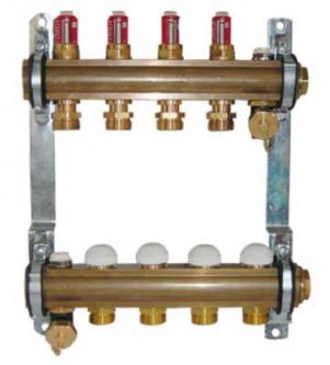 Šildymo sistemos kolektorius Herz, 12 žiedų, su srauto reguliatoriais