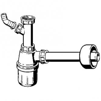 Praustuvo sifonas VIEGA, su pajungimu skalb. mašinai 1''1/4х32