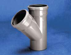Vidaus kanalizacijos trišakis WAVIN OPTIMA, d , 110-50, 45*