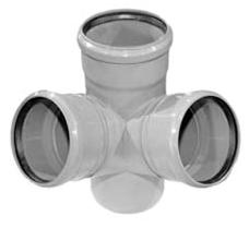 Vidaus kanalizacijos keturšakis WAVIN OPTIMA, erdvinis, d 110, 67*