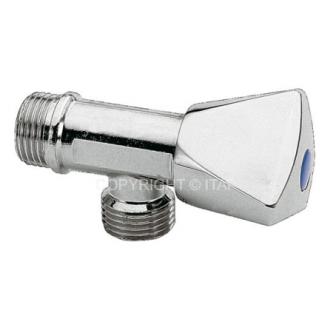 Paprastas ventilis ITAP, kampinis, d 1/2''-1/2''
