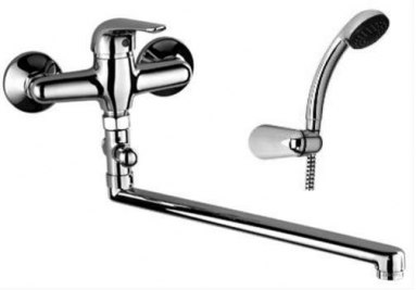 Maišytuvas vonios S-LINE ilgu snapu + dušo komplektas