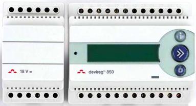 Termostatas DEVI DEVIREG 850 be jutiklių (su įtampos transf. 24W)