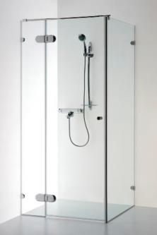 Berėmė kvadratinė kabina Baltijos Brasta, Nora Plius 90x90x190 skaidrus stiklas