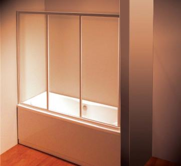 Vonios durys AVDP3-180 SATIN prof. stiklas GRAPE