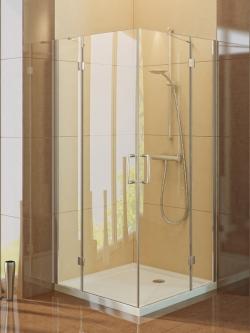 Dušo kabina NEW TRENDY RENOMA 90, skaidrus stiklas