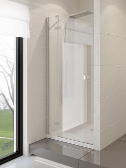 Dušo durys New Trendy Modena, 120 cm, kairinės, skaidrus stiklas