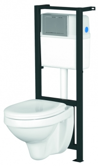 WC rėmas CERSANIT HIT su dangčiu ir klavišu