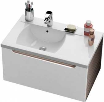 Praustuvo spintelė RAVAK CLASSIC SD 800 dešininė, Espresso/balta