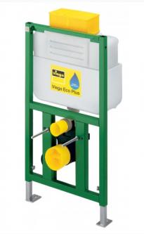 WC rėmas VIEGA ECO PLUS 3/6l. h 830mm, mygtukas iš viršaus