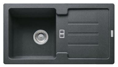 Akmens masės plautuvė Franke Strata, STG 614-78, Graphit, ekscentrinis ventilis