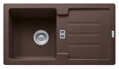 Akmens masės plautuvė Franke Strata, STG 614-78, Chocolate, ekscentrinis ventilis