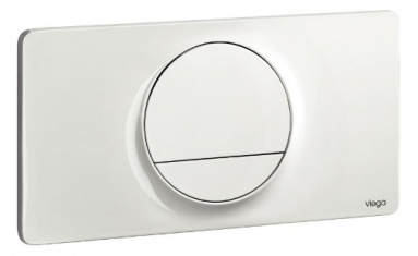 WC klavišas VISIGN FOR STYLE 13 plastic/baltas