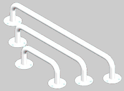 Rankena neįgaliesiems 700 mm, balta