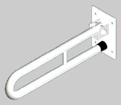 Atrama neįgaliesiems Corrado, atlenkiama, 800 mm, balta