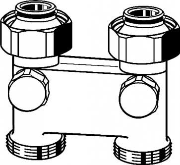 Srauto krypties keitiklis, nikeliuotas 3/4 50mm