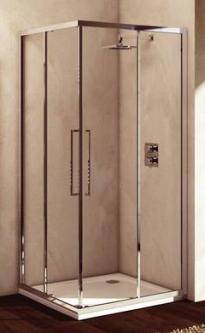 Dušo sienelė IDEAL STANDARD, Kubo 90 cm, profilis chromas, stiklas skaidrus