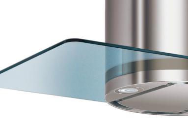 Garų surinktuvo FRANKE uždengimo stiklas 898x650 mm