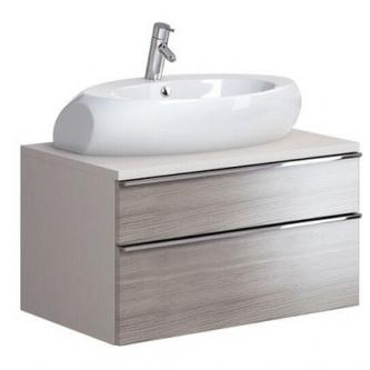 Vonios spintelė OPOCZNO METROPOLITAN 80 su stalviršiu, pilkas ąžuolas