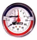 Termomanometras 1/2 6barų paj.viduryje TMAX 6