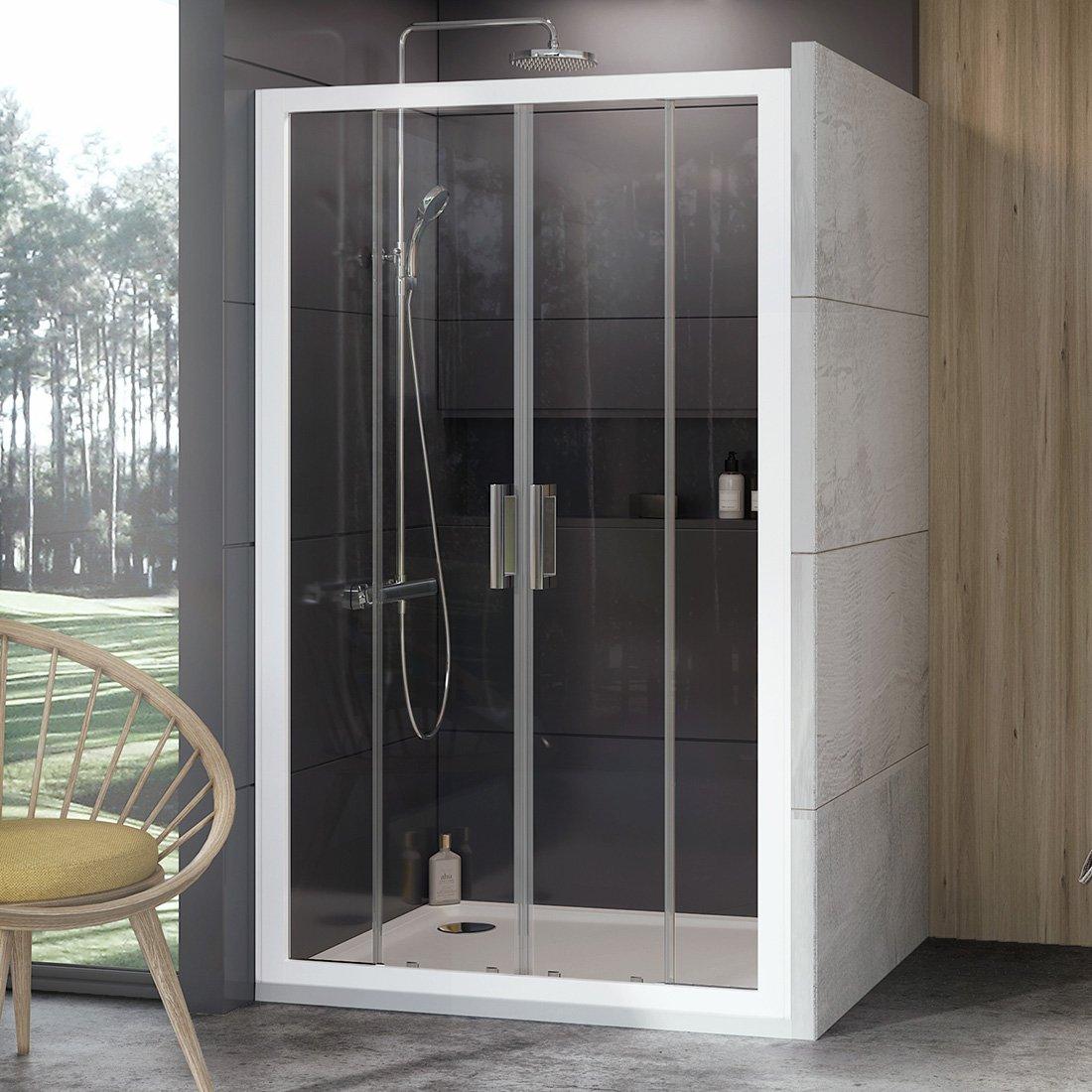 Stumdomos dušo durys Ravak 10°, 10DP4-150, balta+Transparent