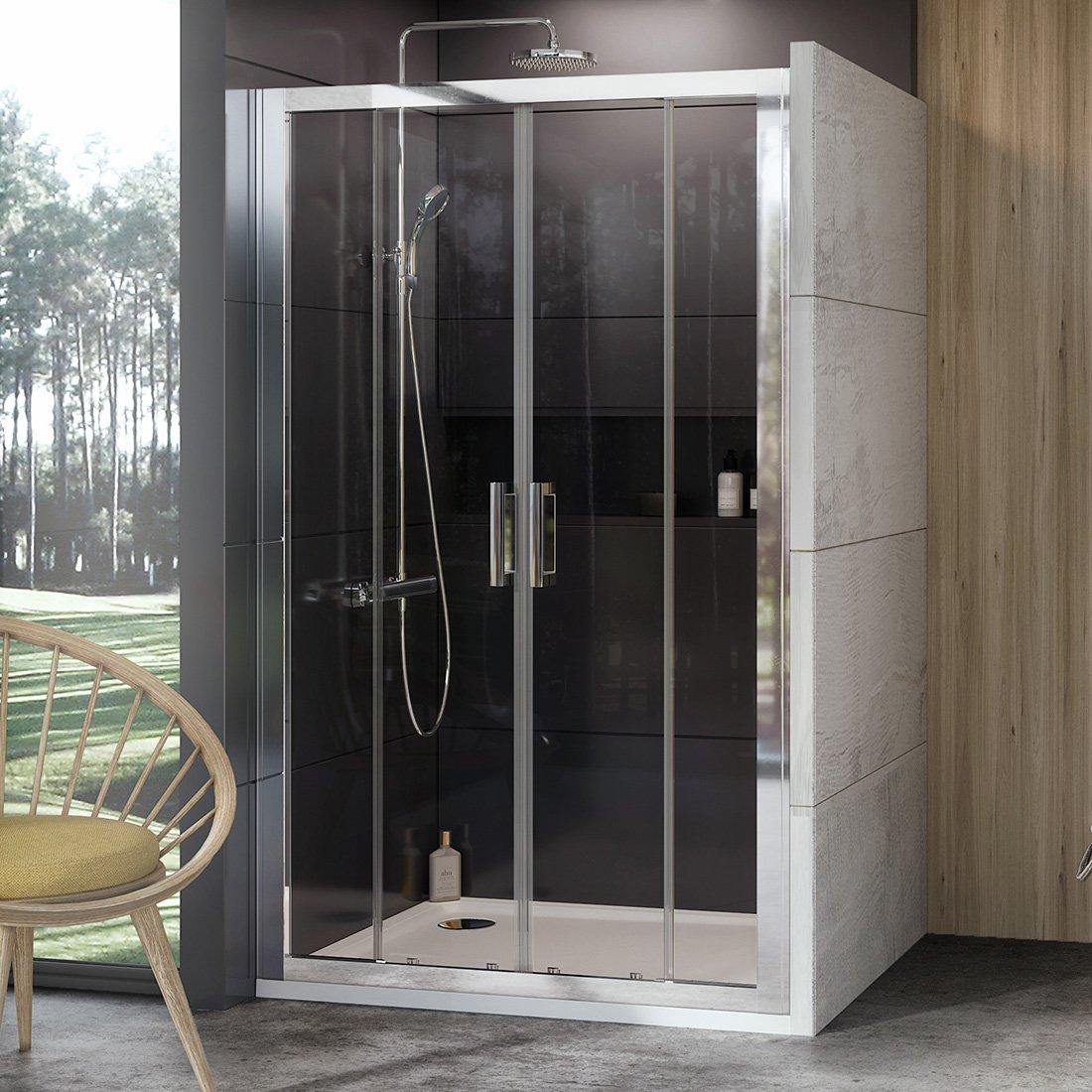 Stumdomos dušo durys Ravak 10°, 10DP4-150, blizgi+Transparent
