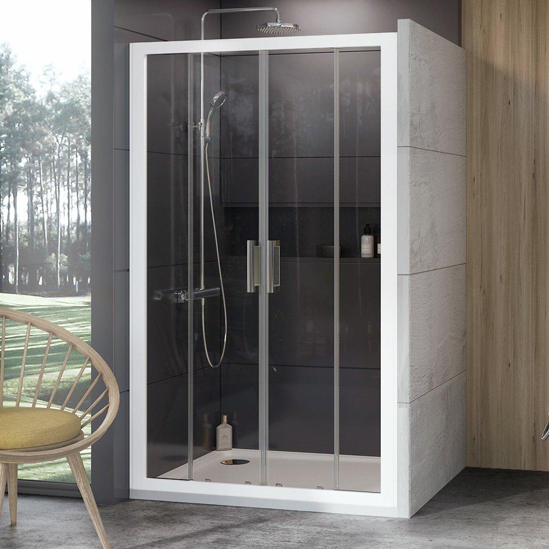 Stumdomos dušo durys Ravak 10°, 10DP4-180, balta+Transparent