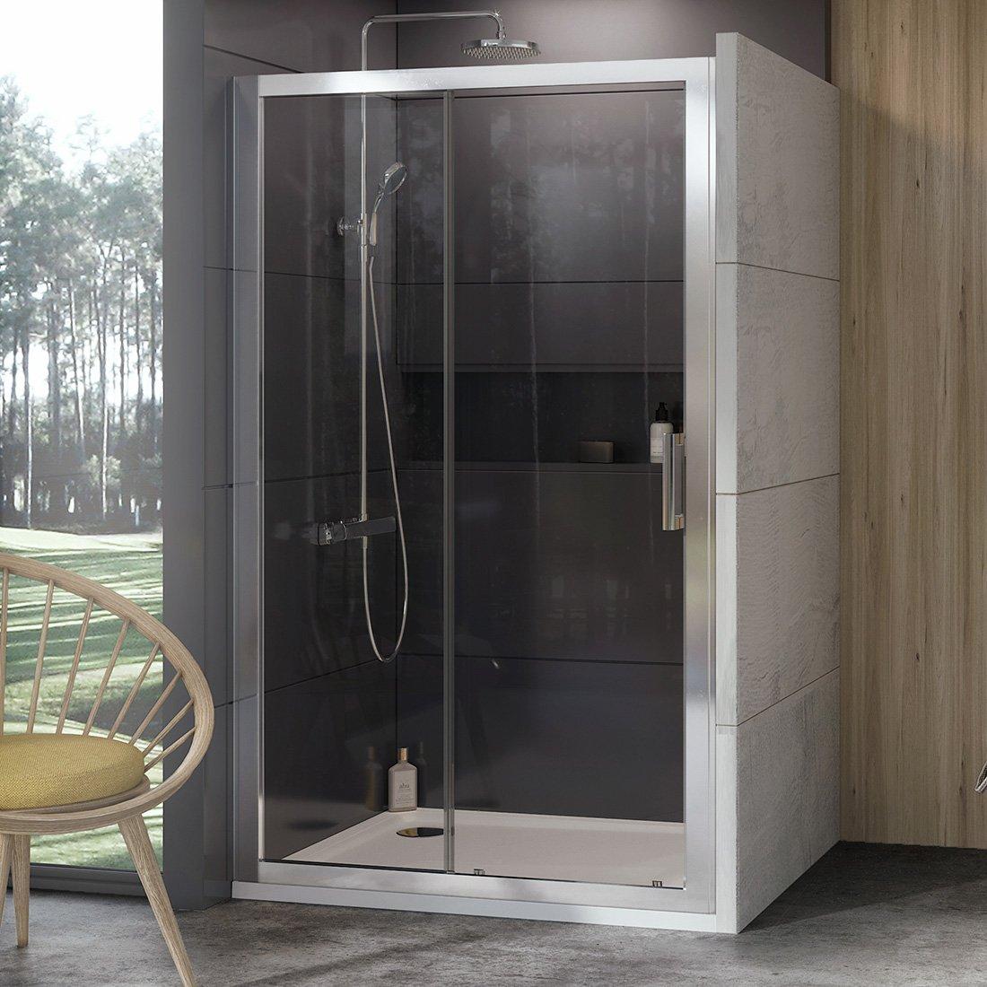 Stumdomos dušo durys Ravak 10°, 10DP2-110, satinas+Transparent
