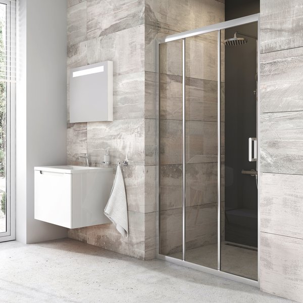 Stumdomos dušo durys Ravak Blix, BLDP3-90, bright alu+Transparent