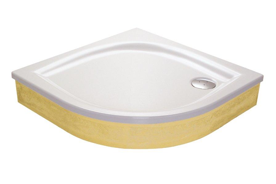 Akrilinis dušo padėklas Ravak Elipso, 80 EX baltas