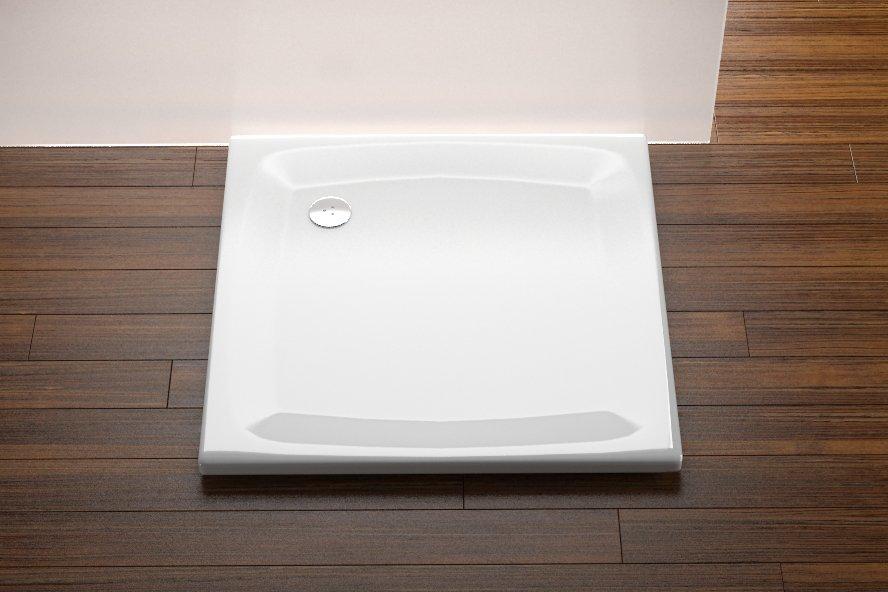 Akrilinis dušo padėklas Ravak Perseus, 80 LA baltas